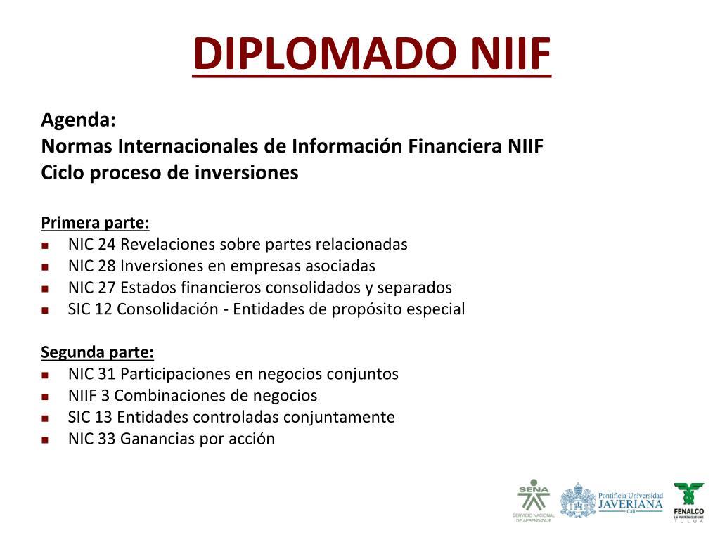 DIPLOMADO NIIF