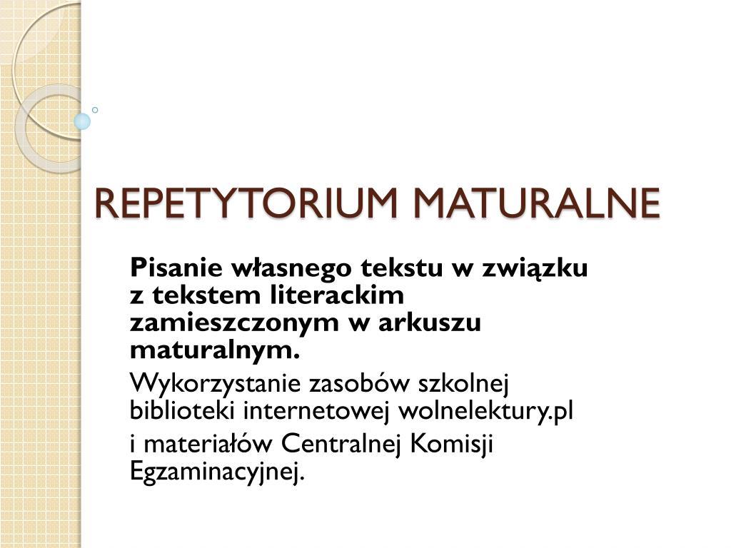 repetytorium maturalne l.
