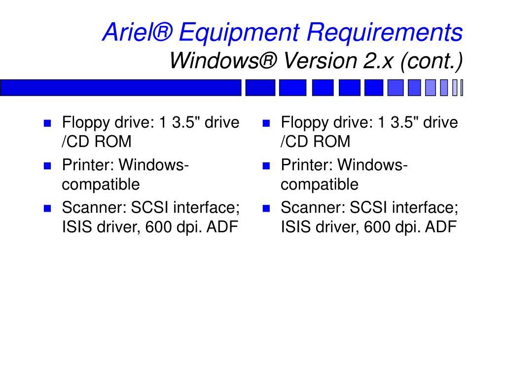 "Floppy drive: 1 3.5"" drive /CD ROM"