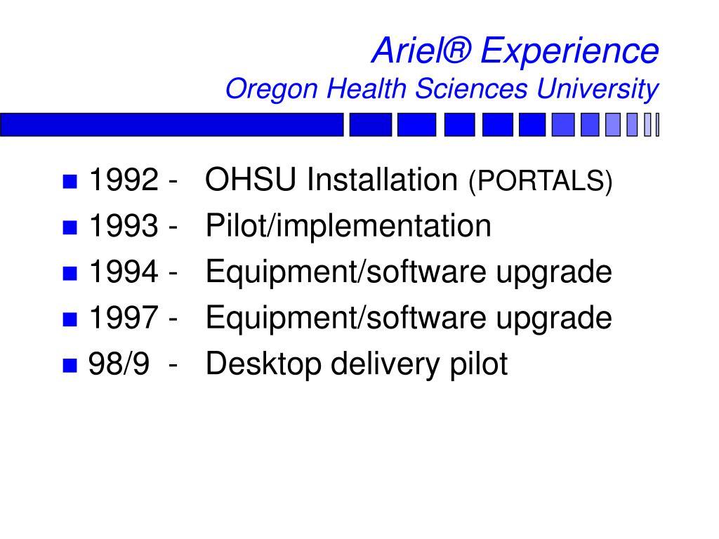 Ariel® Experience