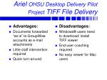 ariel ohsu desktop delivery pilot project tiff file delivery
