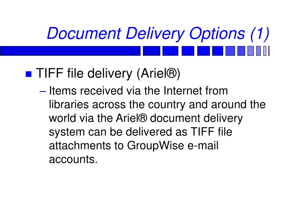 Document Delivery Options (1)