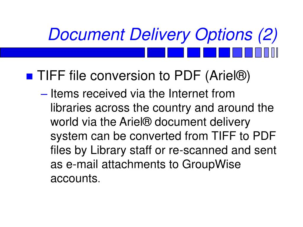 Document Delivery Options (2)