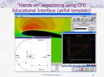 hands on experience using cfd educational interface airfoil template