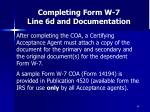 completing form w 7 line 6d and documentation49