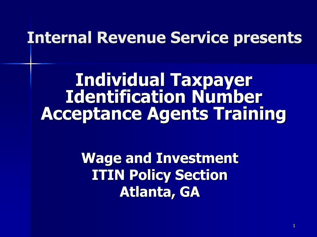 internal revenue service presents l.