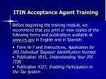itin acceptance agent training7