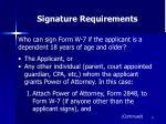 signature requirements57