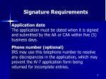 signature requirements59