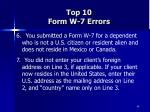 top 10 form w 7 errors68