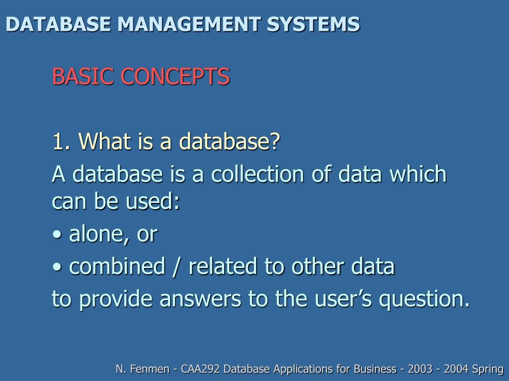 database management systems l.