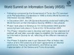world summit on information society wsis