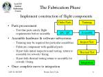 the fabrication phase