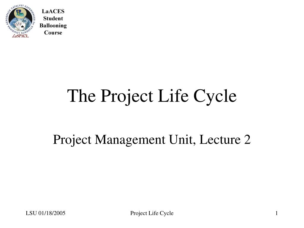 the project life cycle l.