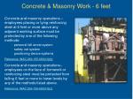 concrete masonry work 6 feet