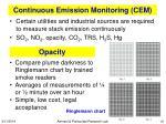 continuous emission monitoring cem