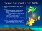 taiwan earthquake dec 2006