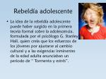 rebeld a adolescente