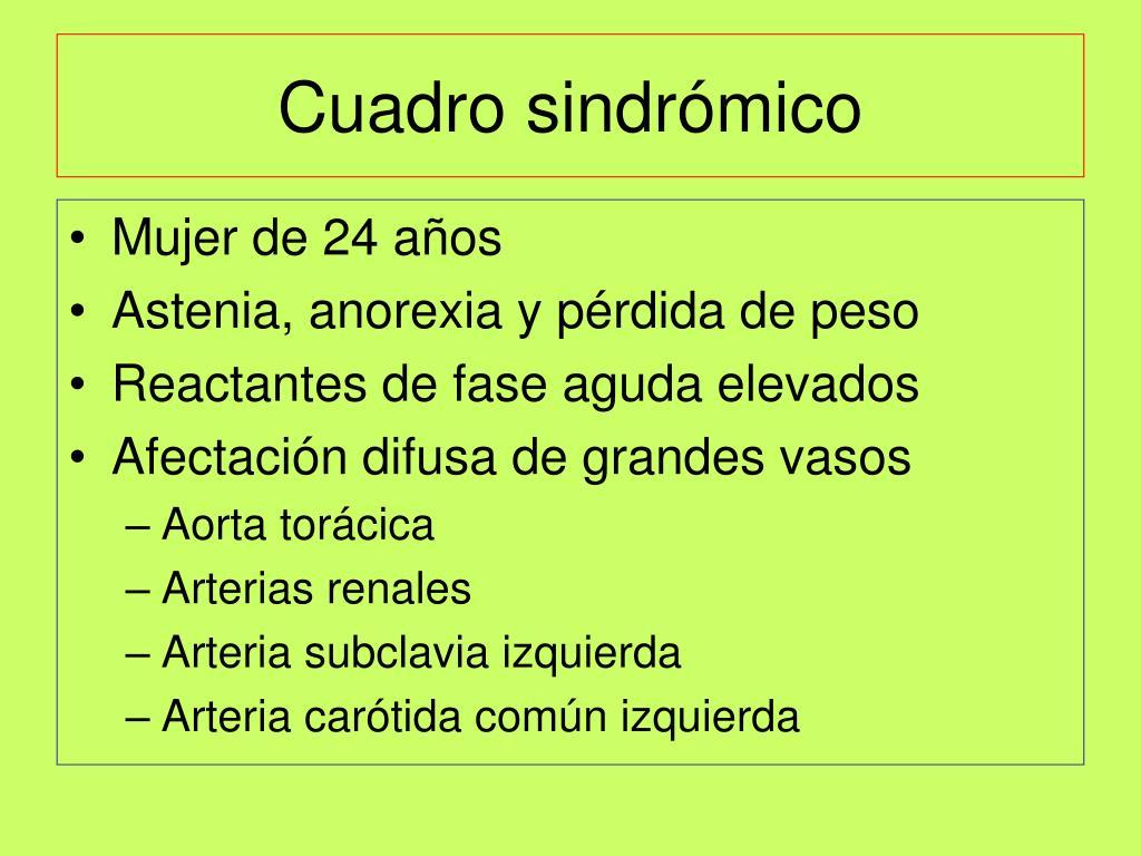 Cuadro sindrómico