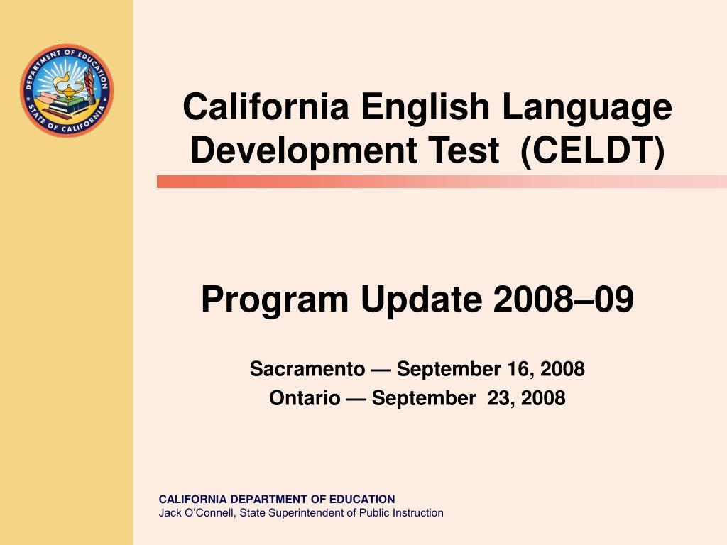 program update 2008 09 sacramento september 16 2008 ontario september 23 2008 l.