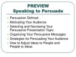 preview speaking to persuade