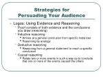 strategies for persuading your audience10