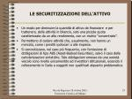 le securitizzazioni dell attivo