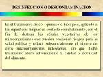 desinfeccion o descontaminacion