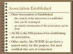 association established