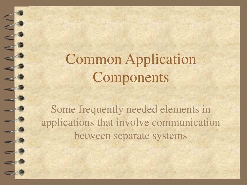 common application components l.