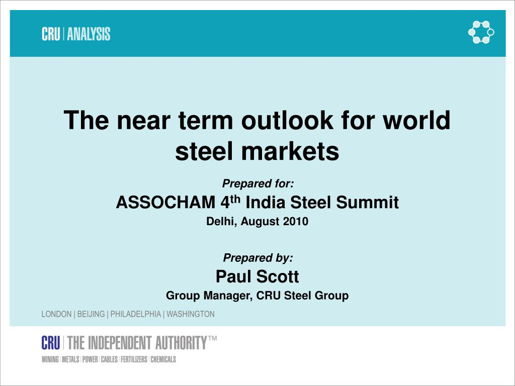 the near term outlook for world steel markets l.