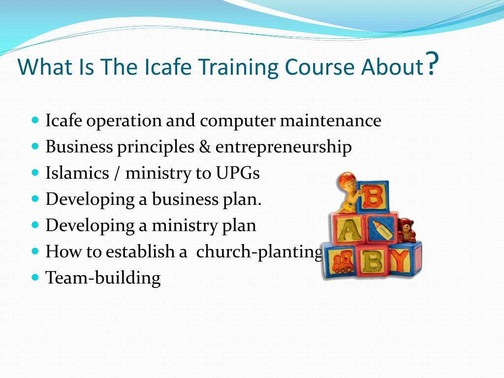 What Is The Icafe Training Course About