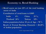 economy vs retail banking