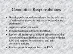 committee responsibilities