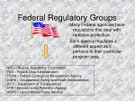 federal regulatory groups