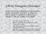 linac emergency procedure