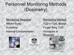 personnel monitoring methods dosimetry