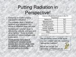 putting radiation in perspective