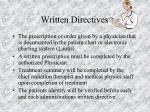written directives