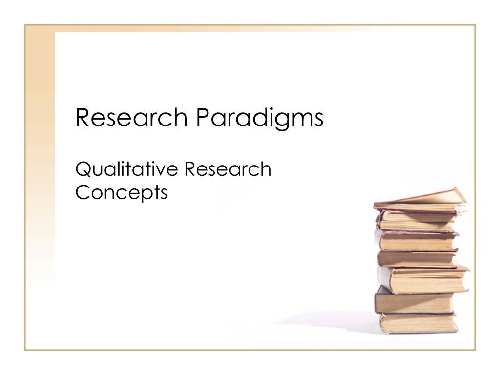 research paradigms l.