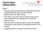 teacher notes implementation20