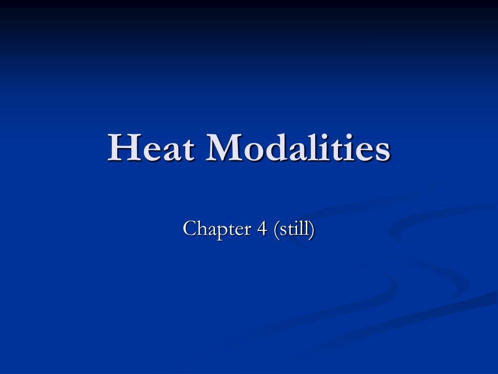 heat modalities l.