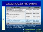 evaluating last mile options23