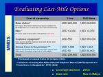 evaluating last mile options24