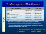 evaluating last mile options26