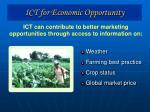 ict for economic opportunity