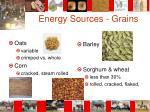 energy sources grains