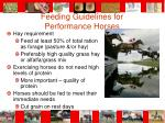 feeding guidelines for performance horses59