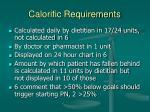 calorific requirements