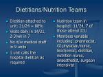 dietitians nutrition teams